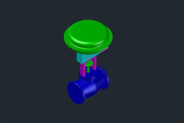 Pneumatic 3D Control Valve