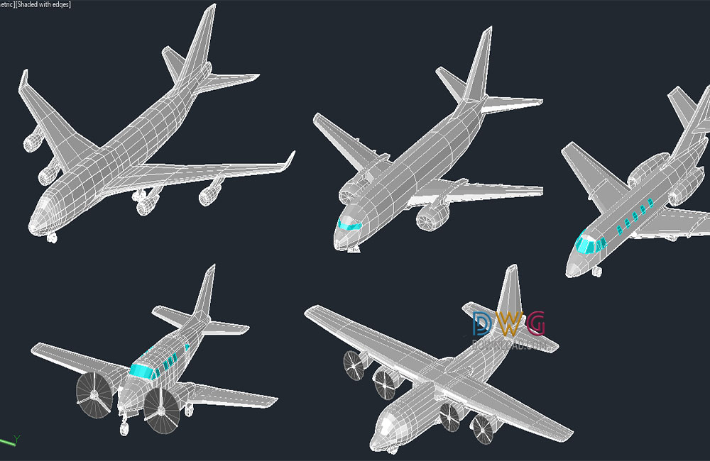 cad blocks, plane dwg, aircraft dwg about  categories of 3D-Model,cad-blocks,vehicles