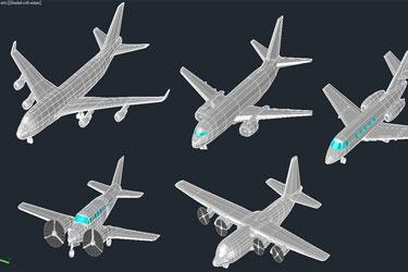 3D Planes Cad Blocks