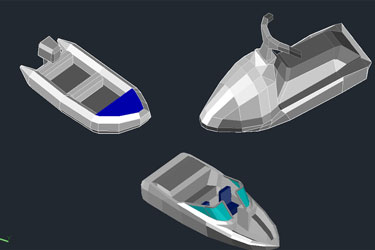 3D Boats Cad Blocks