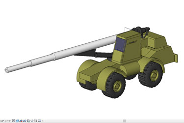 War Machines Howitzer Revit 3D Model