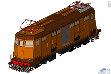 Locomotive Revit 3D Model