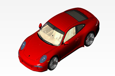 Porsche 911 Carrera Revit 3D Model