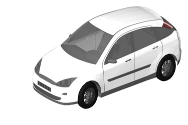 Ford Focus Revit 3D Model