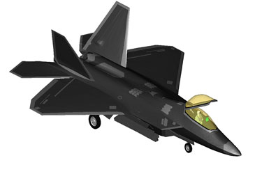 Raptor Military Fighter Jet Revit 3D Model