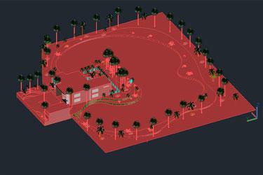 3D Swimming Pool Dwg File