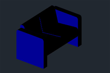 3D Armchair İn Autocad Format