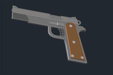Gun 3D Dwg