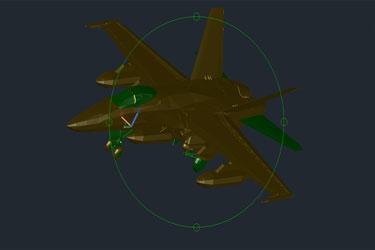F18 Aircraft 3D Dwg