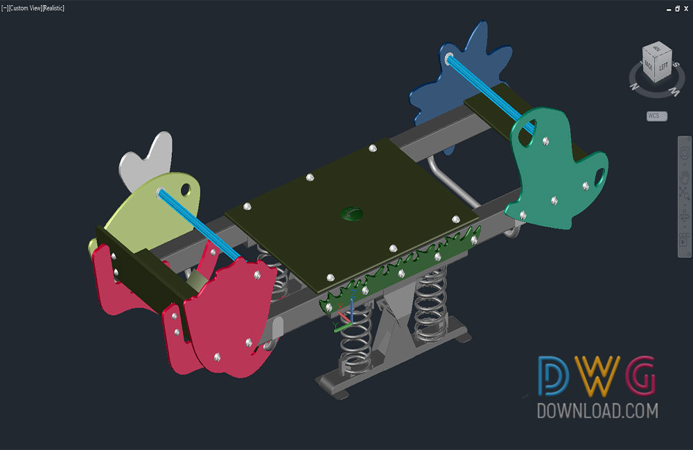 playground dwg, childrens play equipment dwg, children park dwg, 3d, 3D dwg drawing about  categories of 3D-Model,sports-games,urban