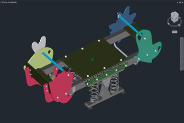 Seesaw 3D Autocad Drawing