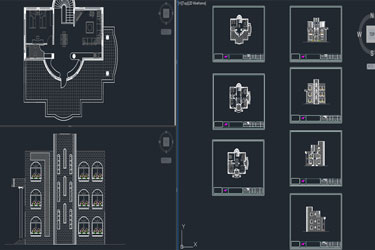 Traditional Bungalow Cad Dwg