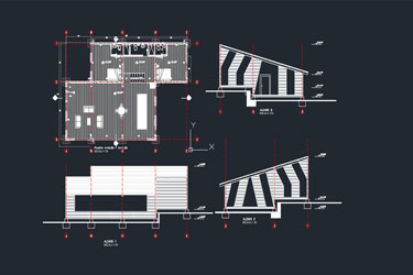 Wooden House Dwg