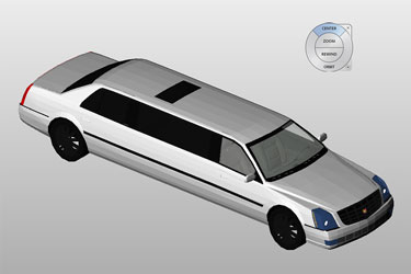 Cadillac Limousine Revit 3D Model
