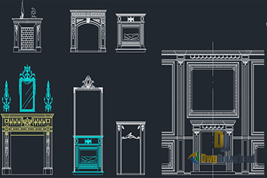 Fireplaces Dwg Download