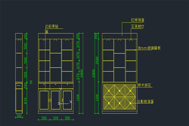 Screen Cabinet Design Cad Block