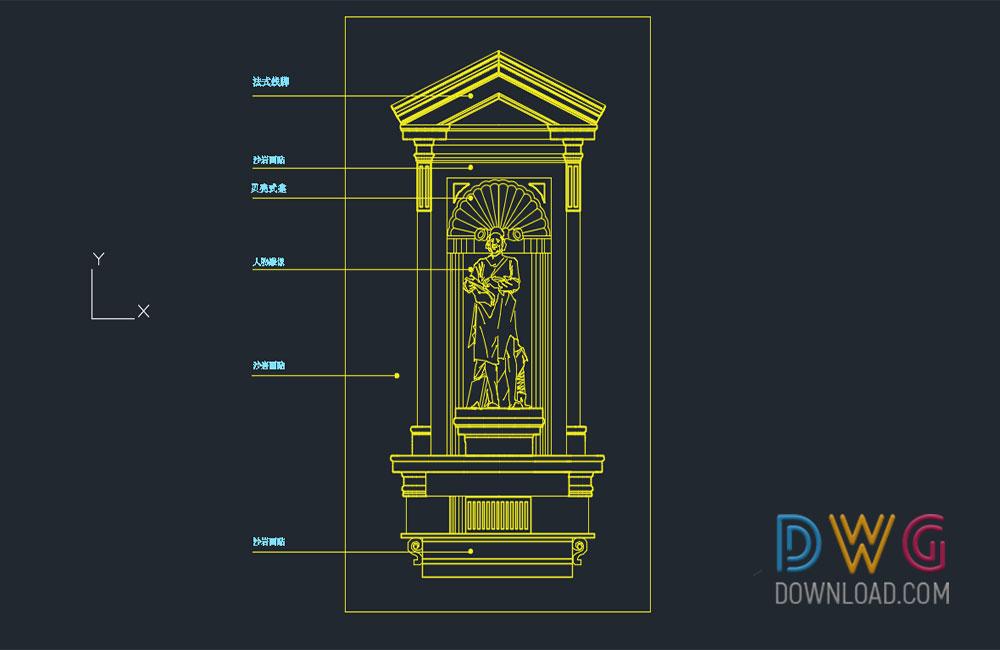 historical museum dwg, decorative frames dwg about  categories of miscellaneous
