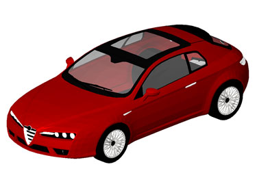 Alfa Romeo Brera Revit 3D Model