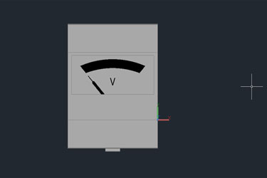 Voltage Gauge 2D Dwg