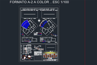 Solar Study With Aparasol Autocad Dwg