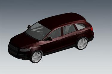 Audi Q7 Revit 3D Model