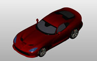 Dodge Srt Viper Gts Revit 3D Model