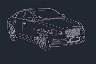 Jaguar Car Dwg Drawing
