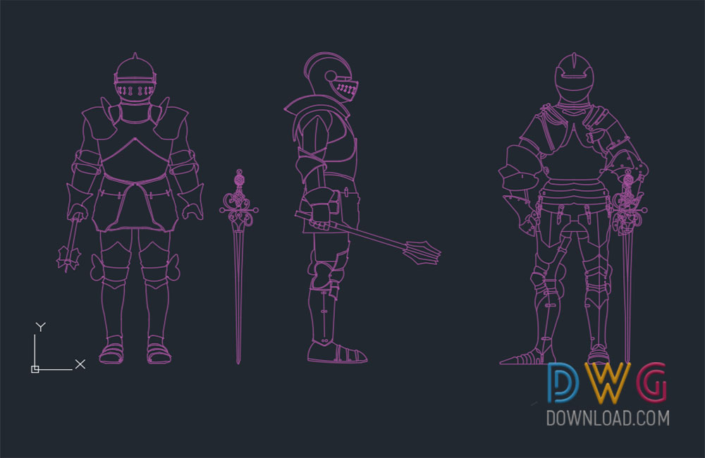 knight dwg, people cads blocks, cad blocks about  categories of miscellaneous,people