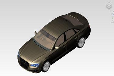 Audi A8 Car Revit 3D Model