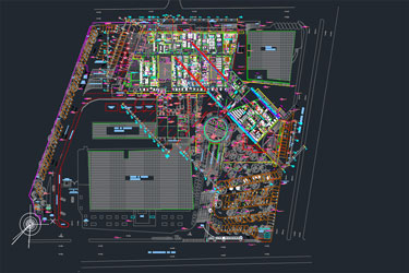 Big Hospital Architecture Dwg Project