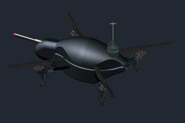 3D Drone Dwg Autocad