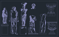 Stone Statues Dwg