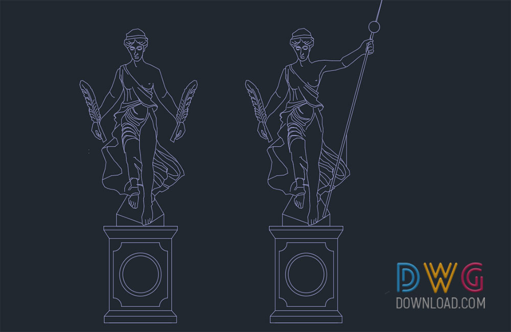 stone dwg, statues dwg about  categories of miscellaneous