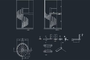 Snail Shaped Staircase Dwg