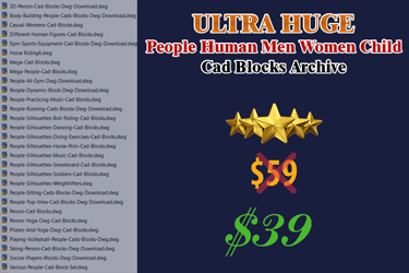 Ultra Huge People Person Women Men Child Cad Blocks Archive