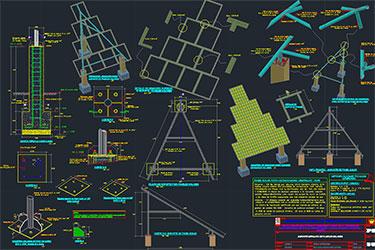 Solar Panel İnstallation Drawings Dwg