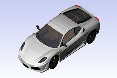 Ferrari F430 Scuderia Revit 3D Model