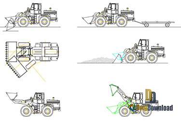 Construction Machines Dwg Download