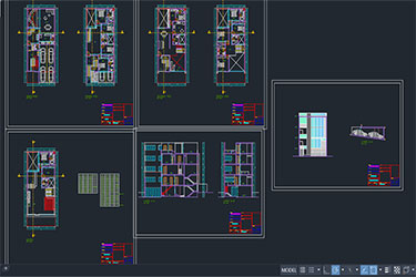 4 Level House Dwg File