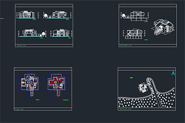 Lake House Architecture Project Free Dwg