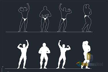 Body Building People Cads Blocks Dwg Download