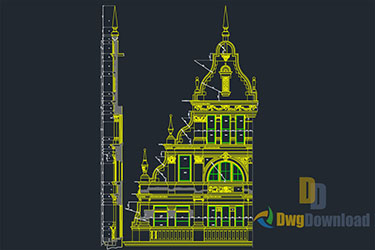 Mosque Detail Dwg Download