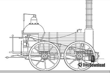 Steam Locomotive Dwg Download