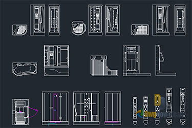 Shower Parts Dwg Download