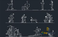 People At Gym Dwg Download
