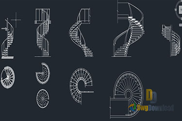 Spiral Staircase Dwg Download