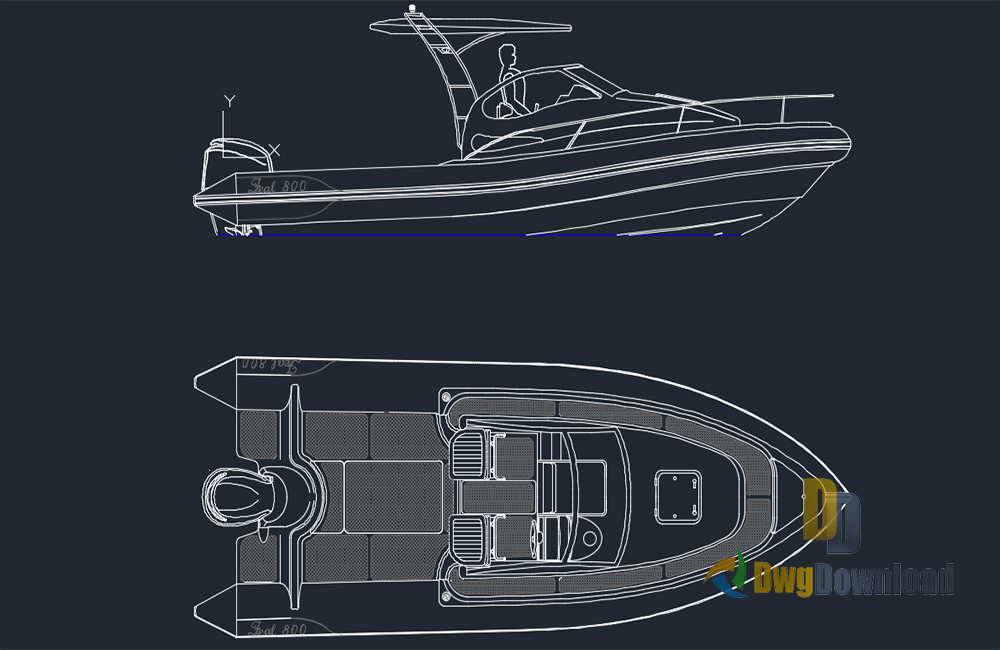 motorboat dwg, ship dwg, ship detail dwg about  categories of vehicles,boat-ship