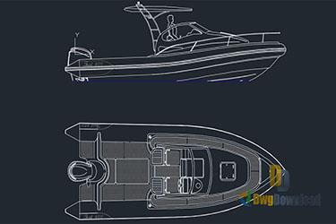 Motor Boat Dwg Download