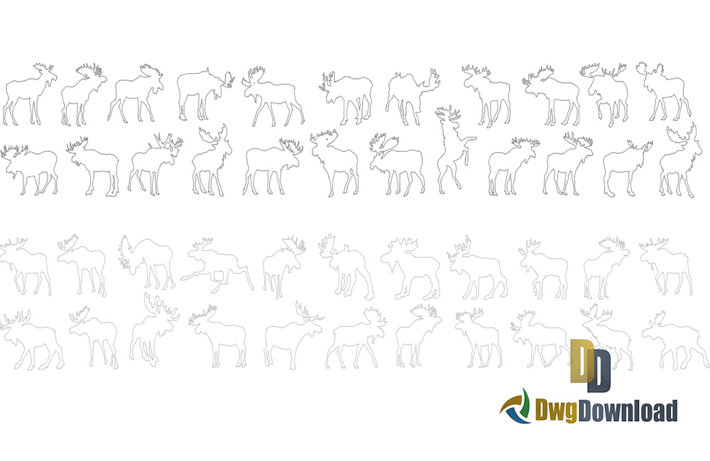 moose cad blocks, animals cad blocks, cad blocks, moose dwg, animals dwg blocks about  categories of cad-blocks,animal