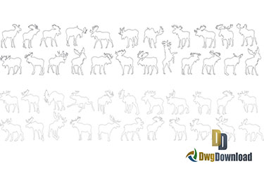 Moose Cad Blocks Dwg Download